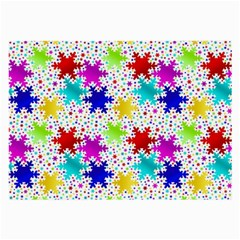 Snowflake Pattern Repeated Large Glasses Cloth by Amaryn4rt