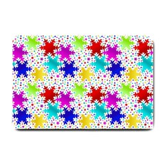Snowflake Pattern Repeated Small Doormat  by Amaryn4rt