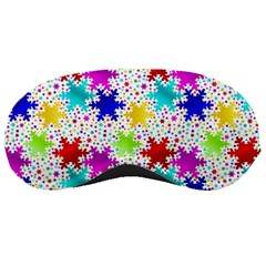 Snowflake Pattern Repeated Sleeping Masks by Amaryn4rt