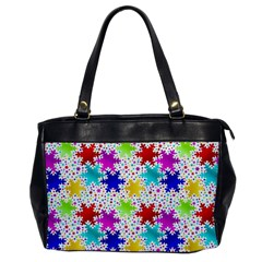 Snowflake Pattern Repeated Office Handbags by Amaryn4rt