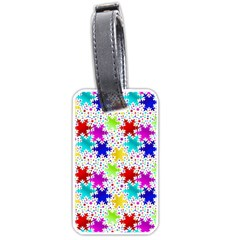 Snowflake Pattern Repeated Luggage Tags (one Side)  by Amaryn4rt