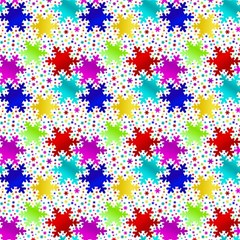 Snowflake Pattern Repeated Magic Photo Cubes by Amaryn4rt