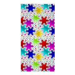 Snowflake Pattern Repeated Shower Curtain 36  X 72  (stall)  by Amaryn4rt