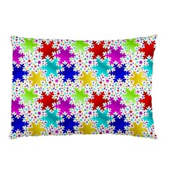 Snowflake Pattern Repeated Pillow Case (two Sides) by Amaryn4rt
