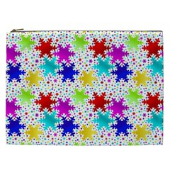 Snowflake Pattern Repeated Cosmetic Bag (xxl)  by Amaryn4rt
