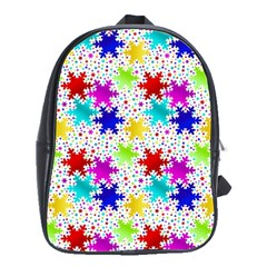 Snowflake Pattern Repeated School Bags (xl)  by Amaryn4rt
