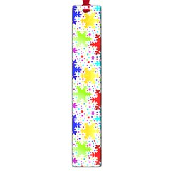 Snowflake Pattern Repeated Large Book Marks by Amaryn4rt