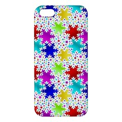 Snowflake Pattern Repeated Apple Iphone 5 Premium Hardshell Case by Amaryn4rt