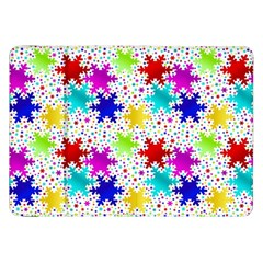 Snowflake Pattern Repeated Samsung Galaxy Tab 8 9  P7300 Flip Case by Amaryn4rt