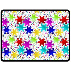 Snowflake Pattern Repeated Double Sided Fleece Blanket (large)  by Amaryn4rt