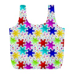 Snowflake Pattern Repeated Full Print Recycle Bags (l)  by Amaryn4rt