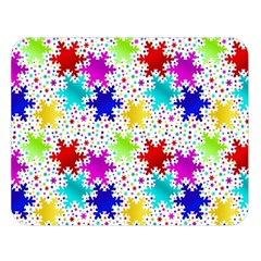 Snowflake Pattern Repeated Double Sided Flano Blanket (large)  by Amaryn4rt