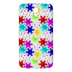 Snowflake Pattern Repeated Samsung Galaxy Mega I9200 Hardshell Back Case by Amaryn4rt