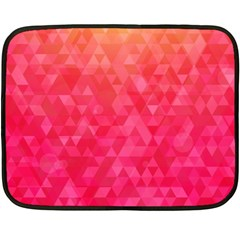 Abstract Red Octagon Polygonal Texture Fleece Blanket (mini) by TastefulDesigns