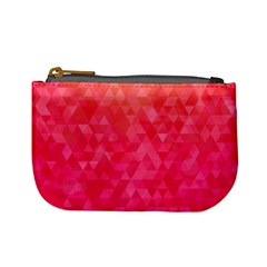 Abstract Red Octagon Polygonal Texture Mini Coin Purses by TastefulDesigns