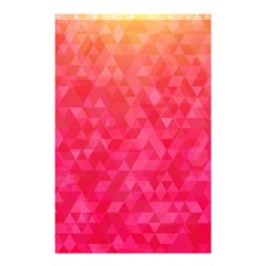 Abstract Red Octagon Polygonal Texture Shower Curtain 48  X 72  (small)  by TastefulDesigns