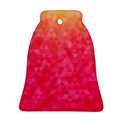 Abstract Red Octagon Polygonal Texture Bell Ornament (two Sides) by TastefulDesigns