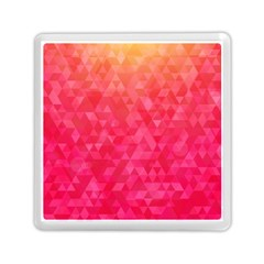 Abstract Red Octagon Polygonal Texture Memory Card Reader (square)  by TastefulDesigns