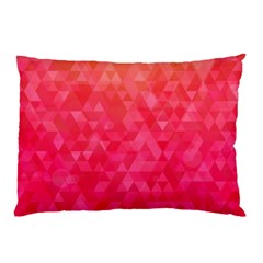 Abstract Red Octagon Polygonal Texture Pillow Case (two Sides) by TastefulDesigns