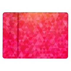 Abstract Red Octagon Polygonal Texture Samsung Galaxy Tab 10 1  P7500 Flip Case