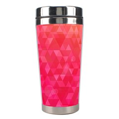 Abstract Red Octagon Polygonal Texture Stainless Steel Travel Tumblers by TastefulDesigns
