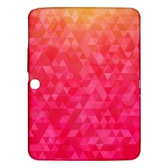 Abstract Red Octagon Polygonal Texture Samsung Galaxy Tab 3 (10 1 ) P5200 Hardshell Case  by TastefulDesigns