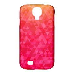 Abstract Red Octagon Polygonal Texture Samsung Galaxy S4 Classic Hardshell Case (pc+silicone) by TastefulDesigns