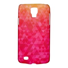 Abstract Red Octagon Polygonal Texture Galaxy S4 Active by TastefulDesigns