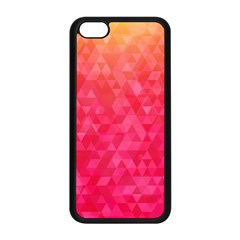 Abstract Red Octagon Polygonal Texture Apple Iphone 5c Seamless Case (black) by TastefulDesigns