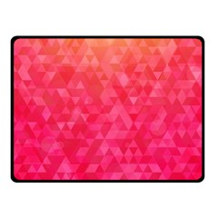 Abstract Red Octagon Polygonal Texture Double Sided Fleece Blanket (small)  by TastefulDesigns