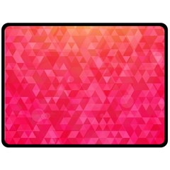 Abstract Red Octagon Polygonal Texture Double Sided Fleece Blanket (large)  by TastefulDesigns