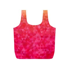 Abstract Red Octagon Polygonal Texture Full Print Recycle Bags (s)  by TastefulDesigns