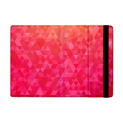 Abstract Red Octagon Polygonal Texture Ipad Mini 2 Flip Cases by TastefulDesigns
