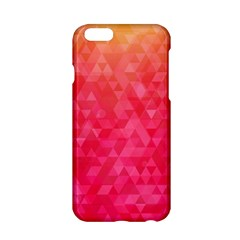 Abstract Red Octagon Polygonal Texture Apple Iphone 6/6s Hardshell Case by TastefulDesigns