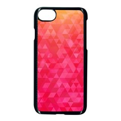 Abstract Red Octagon Polygonal Texture Apple Iphone 7 Seamless Case (black) by TastefulDesigns