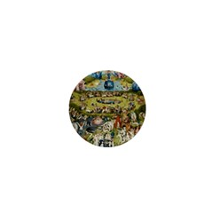 Hieronymus Bosch Garden Of Earthly Delights 1  Mini Buttons by MasterpiecesOfArt