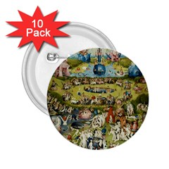 Hieronymus Bosch Garden Of Earthly Delights 2 25  Buttons (10 Pack)  by MasterpiecesOfArt