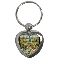 Hieronymus Bosch Garden Of Earthly Delights Key Chains (heart)  by MasterpiecesOfArt