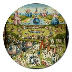 Hieronymus Bosch Garden Of Earthly Delights Magnet 5  (round) by MasterpiecesOfArt