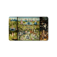 Hieronymus Bosch Garden Of Earthly Delights Magnet (name Card) by MasterpiecesOfArt