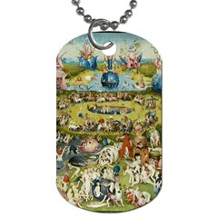 Hieronymus Bosch Garden Of Earthly Delights Dog Tag (one Side) by MasterpiecesOfArt