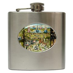 Hieronymus Bosch Garden Of Earthly Delights Hip Flask (6 Oz) by MasterpiecesOfArt