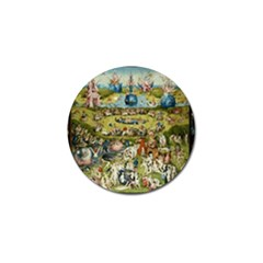 Hieronymus Bosch Garden Of Earthly Delights Golf Ball Marker by MasterpiecesOfArt