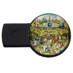 Hieronymus Bosch Garden Of Earthly Delights Usb Flash Drive Round (2 Gb) by MasterpiecesOfArt