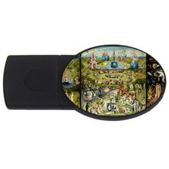 Hieronymus Bosch Garden Of Earthly Delights USB Flash Drive Oval (2 GB) by MasterpiecesOfArt