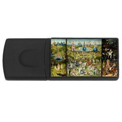 Hieronymus Bosch Garden Of Earthly Delights USB Flash Drive Rectangular (1 GB) by MasterpiecesOfArt
