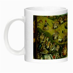 Hieronymus Bosch Garden Of Earthly Delights Night Luminous Mugs by MasterpiecesOfArt