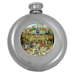 Hieronymus Bosch Garden Of Earthly Delights Round Hip Flask (5 Oz) by MasterpiecesOfArt
