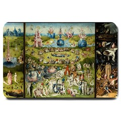 Hieronymus Bosch Garden Of Earthly Delights Large Doormat  by MasterpiecesOfArt