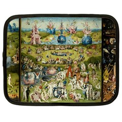 Hieronymus Bosch Garden Of Earthly Delights Netbook Case (large) by MasterpiecesOfArt